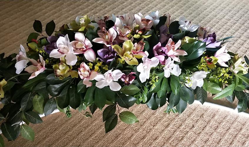 Arbour flowers closeup