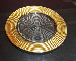 Gold edged Glass plate