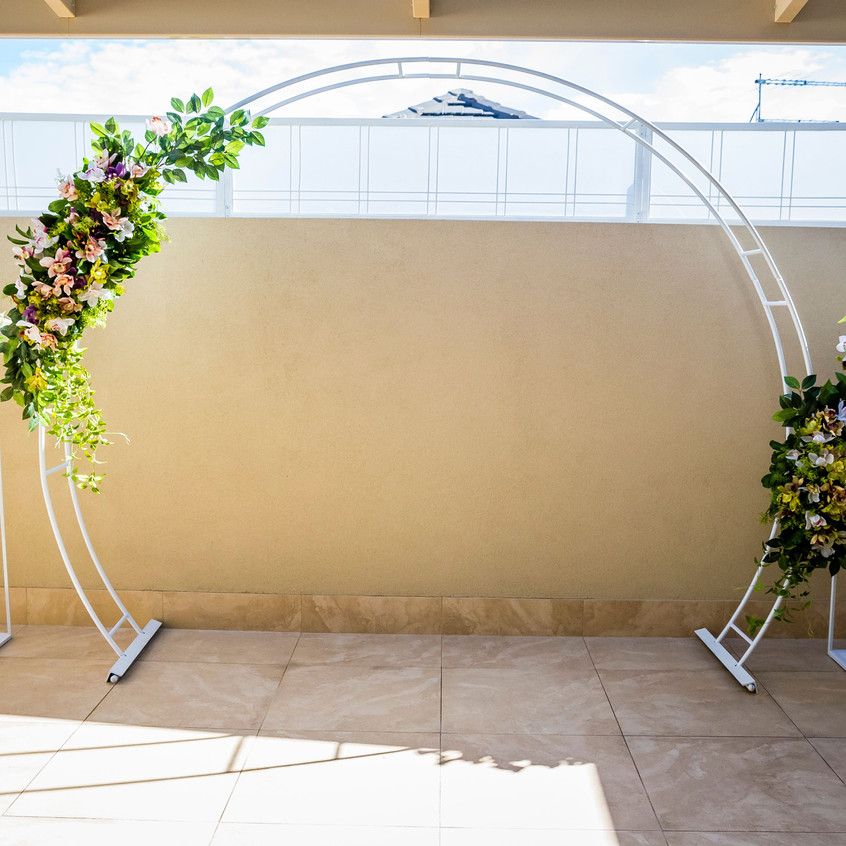 Arbour and Flower Stands