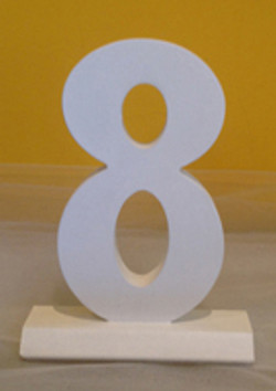 White wood table Numbers