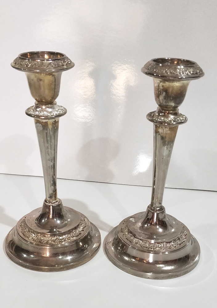 Silver Candle Stick Holder