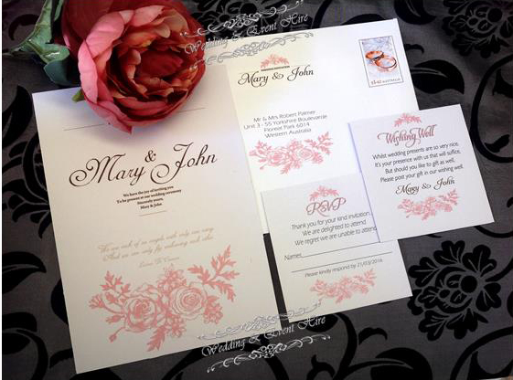 Roses Wedding Invitation Template