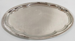Oval silver plate serving tray
