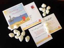 La Spiaggia Wedding Invitation
