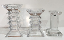 Heavy cut Crystal Candle Holders