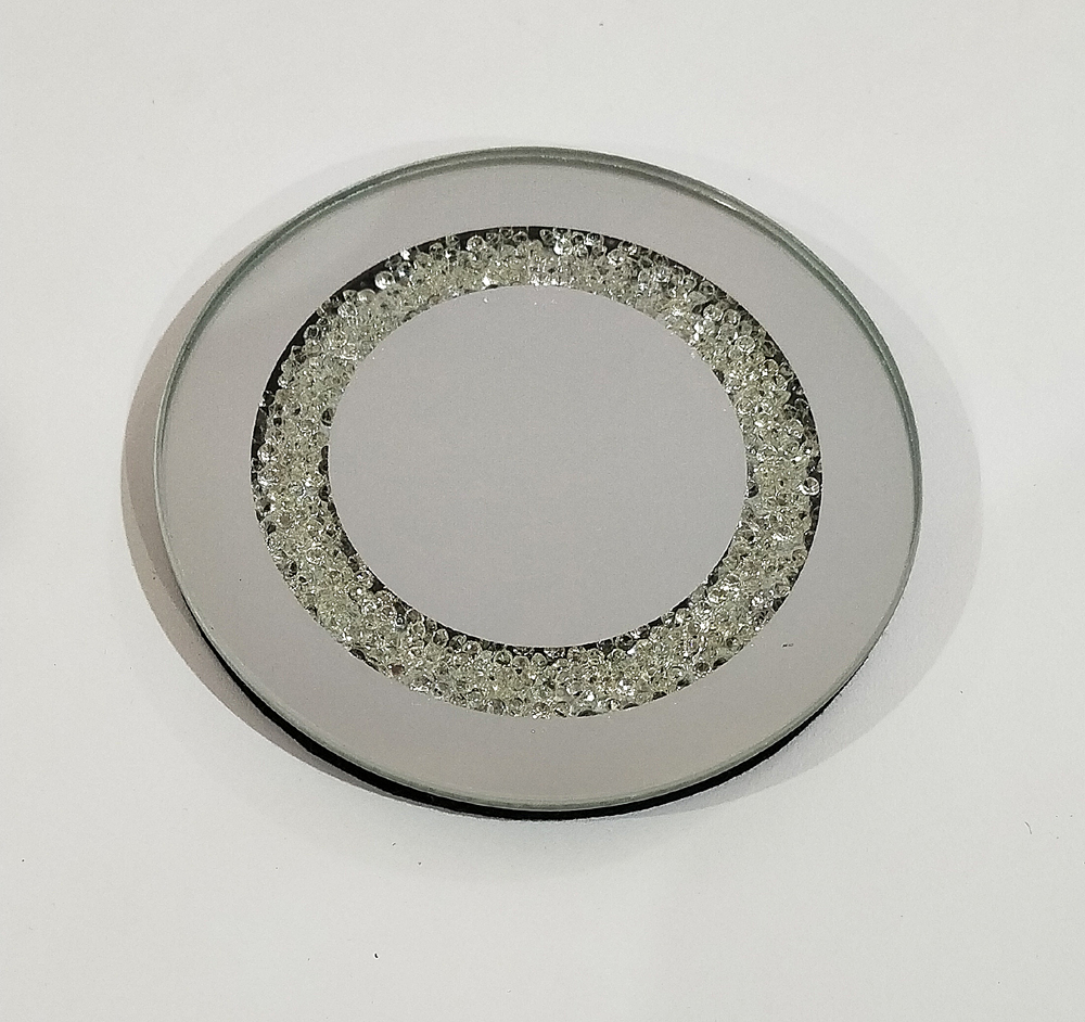 Mirrored candle plate rdc
