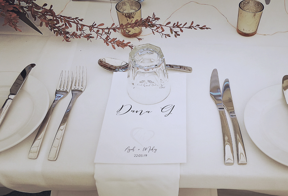 Menu Place Card