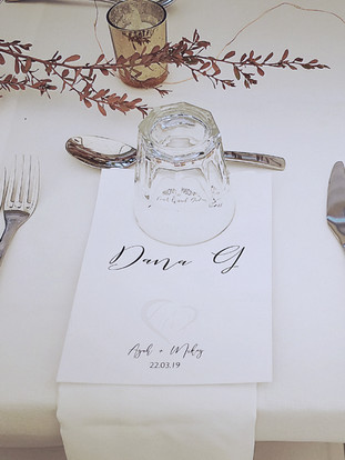 Menu and Placecard