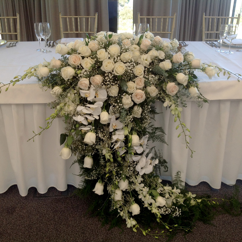 Stunning Bridal table florals