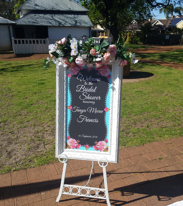 Welcome sign for Bridal Shower