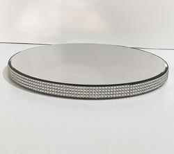 Diamante edged mirror cake stand