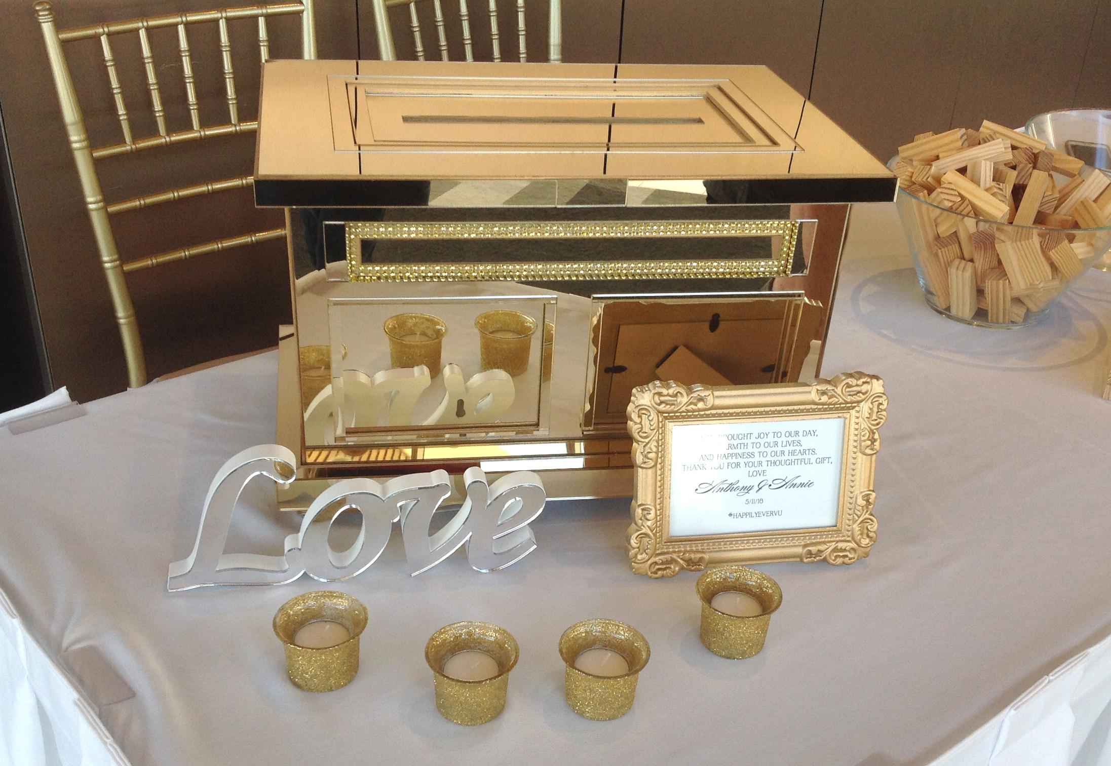 Gold mirrored Box