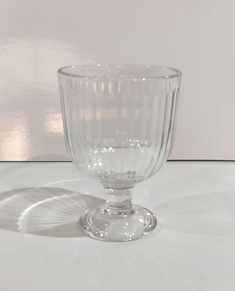 Clear Glass Goblet