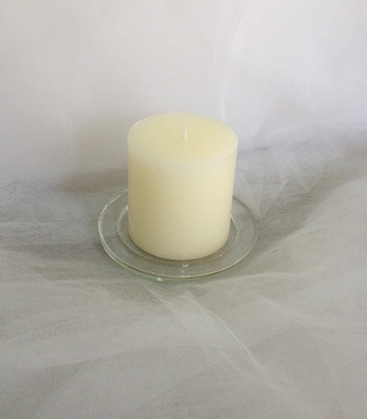 Glass Candle plate