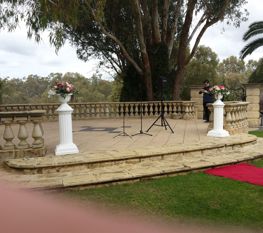 Pair of Columns with Urns