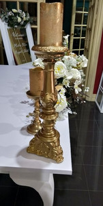 17th Century style gold candelabras