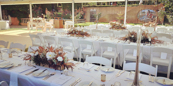 Guest view of Sweetheart table