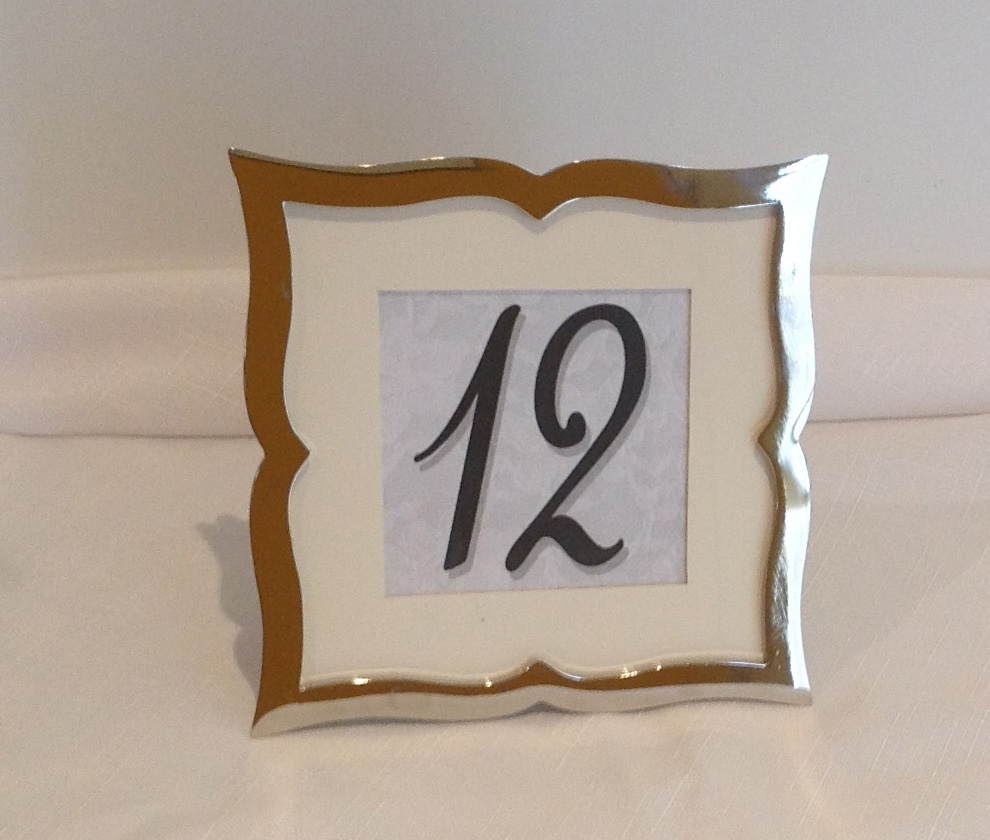 Silver frame Table Numbers