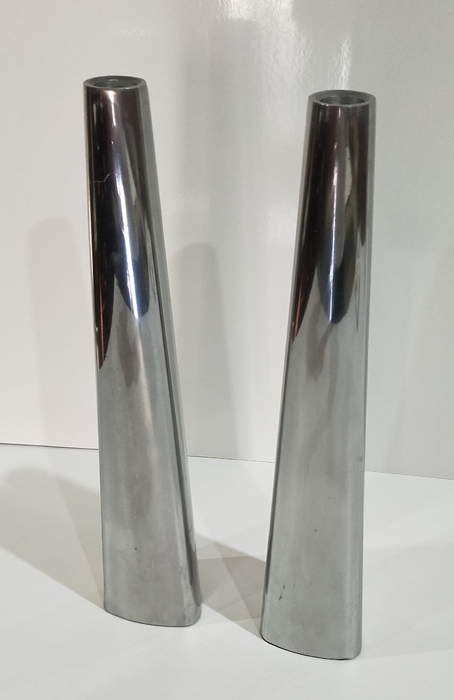 Modern Silver Candle Stick