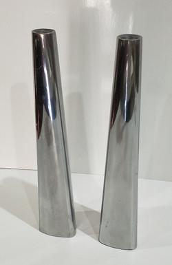 Modern Silver Candle Stick