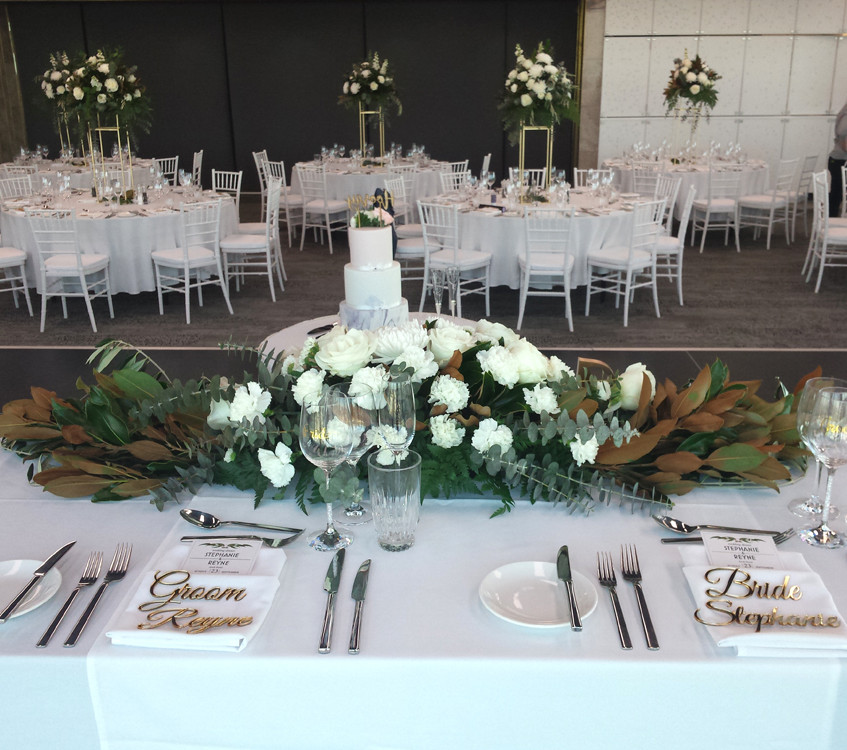 Bride & Groom table setting