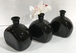 Black ceramic Port bottles