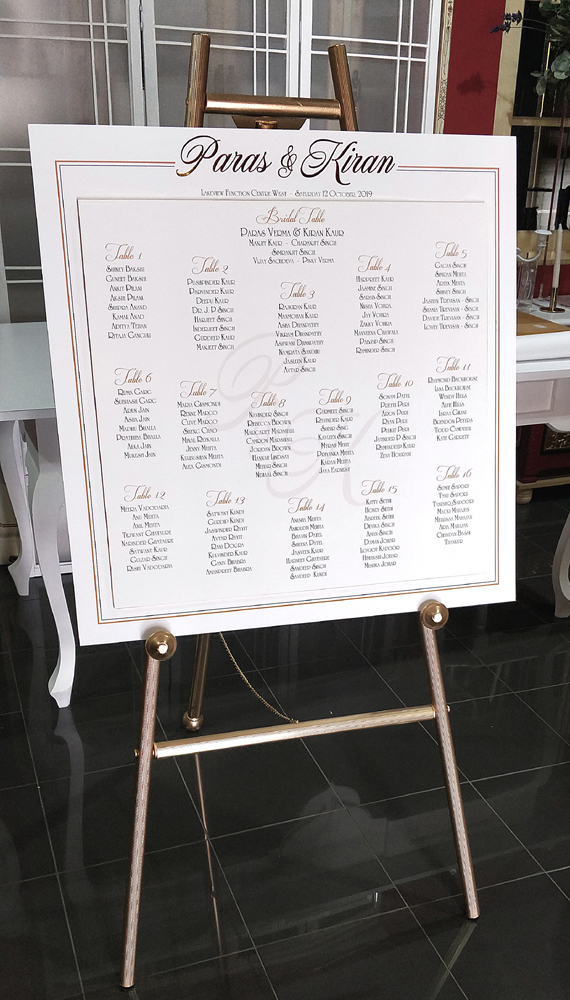 Seating Plan Mounted Print