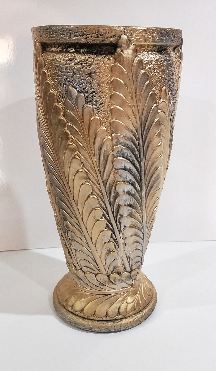 Textured Gold Clay Vase