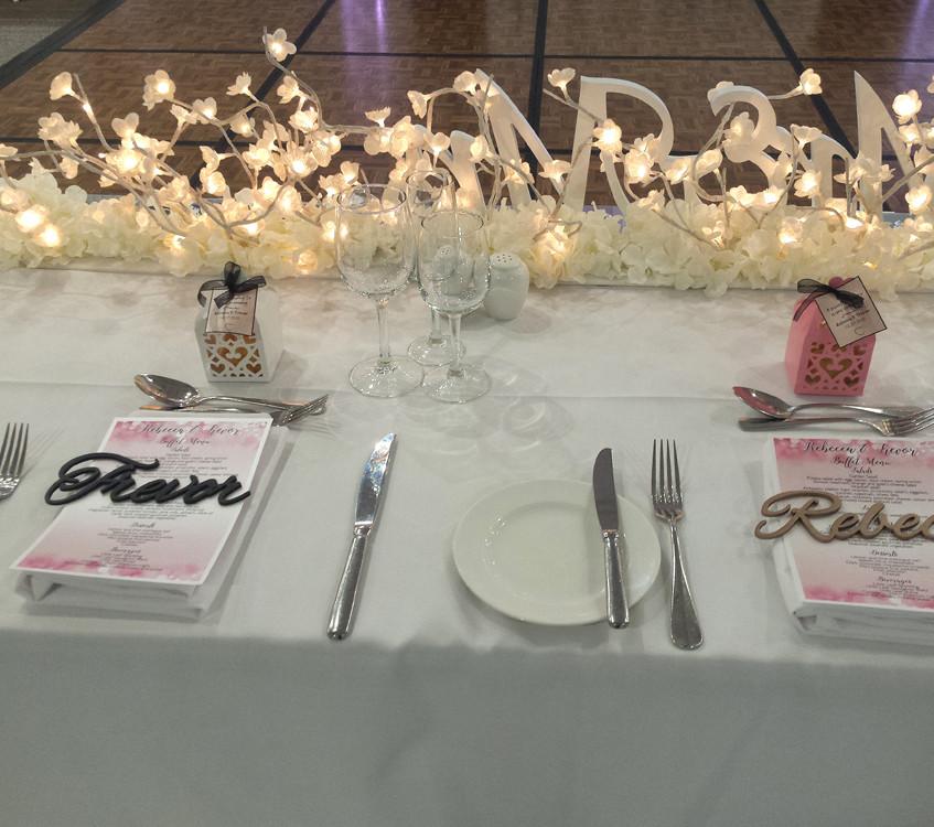 Rebecca & Trevor Bridal Table