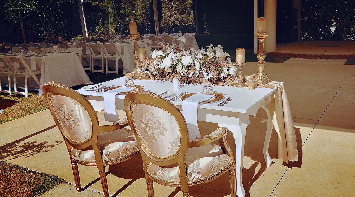 Gold Bride and Groom Chairs