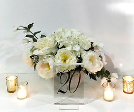 White florals with Table Number