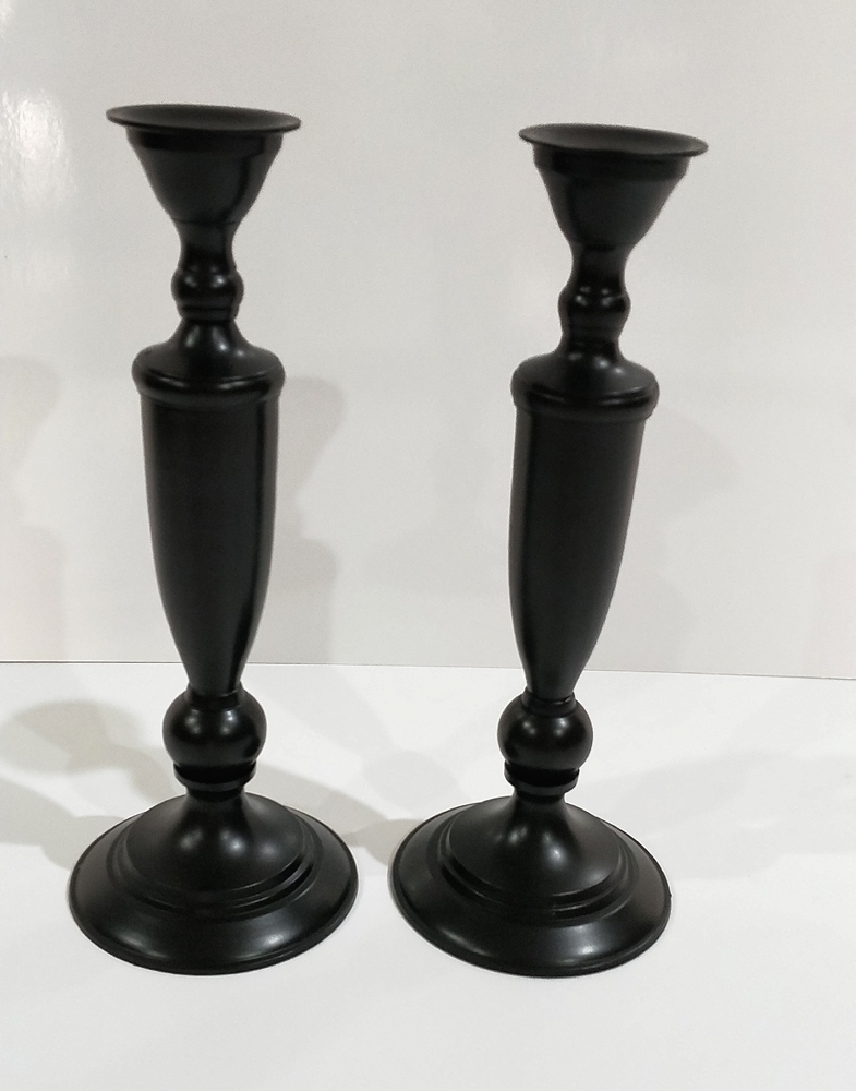 Black slender Candle sticks