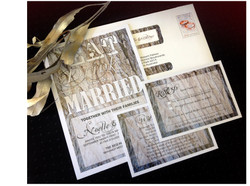 Winter Bark Wedding Invitation Suite