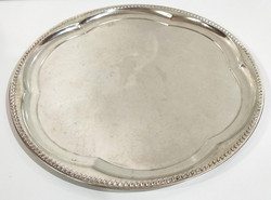 Rustic silver plate serving tray