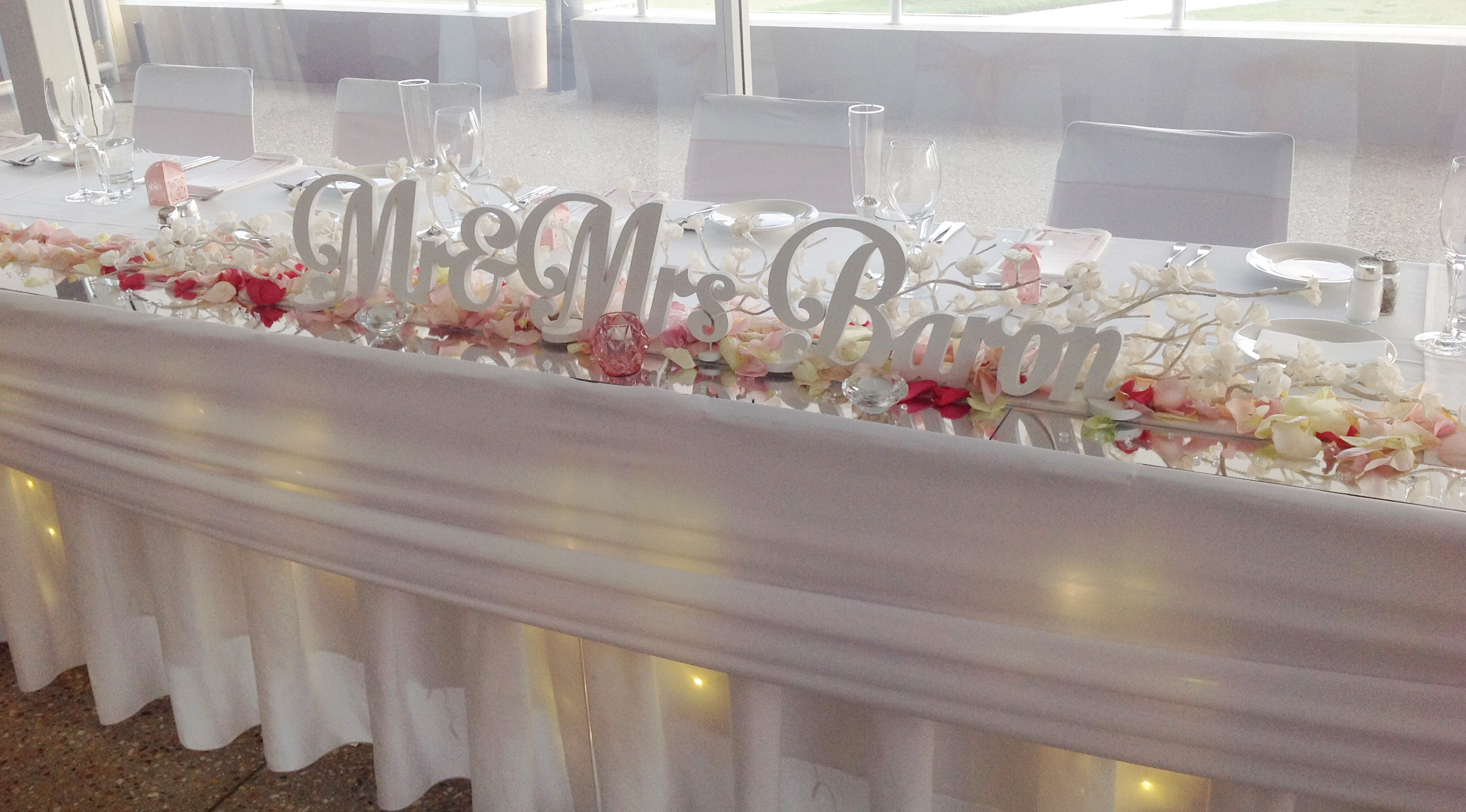 Bridal Table Centrepiece