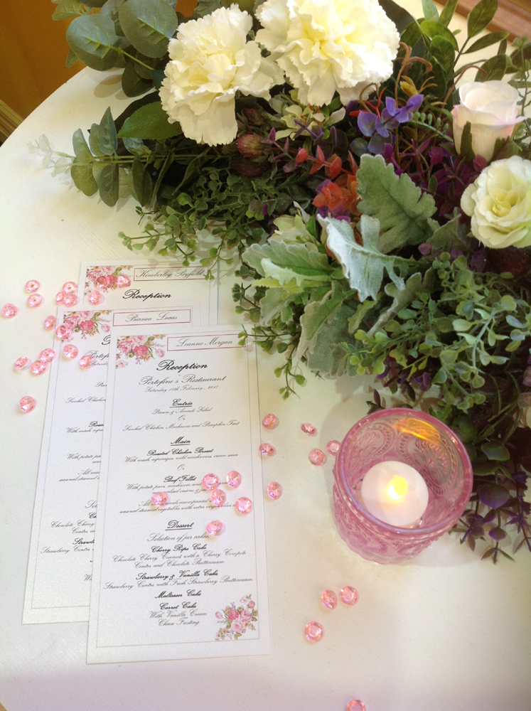 Pink and White DL menus