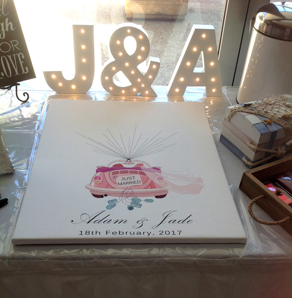 Love Bug Signing Canvas