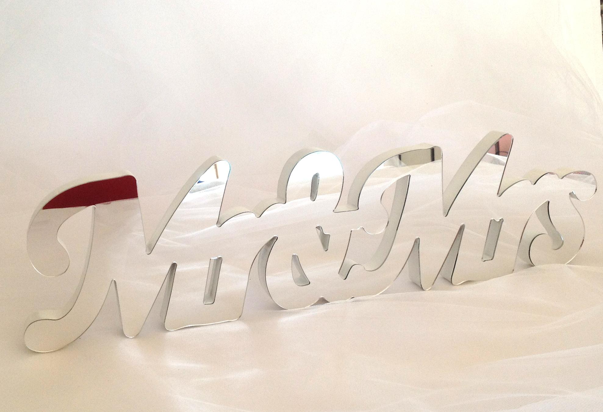 Mirror Mr & Mrs Sign