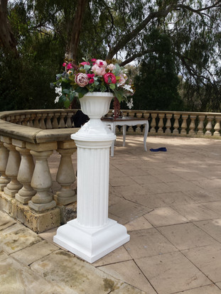 Pedestal Column and Urn
