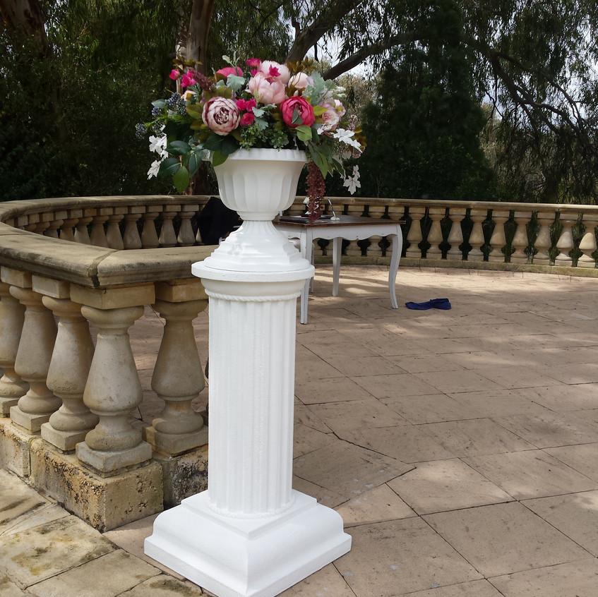 Pedestal Column and Urn