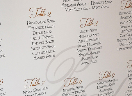 Gold Foil Seating Plan Feature