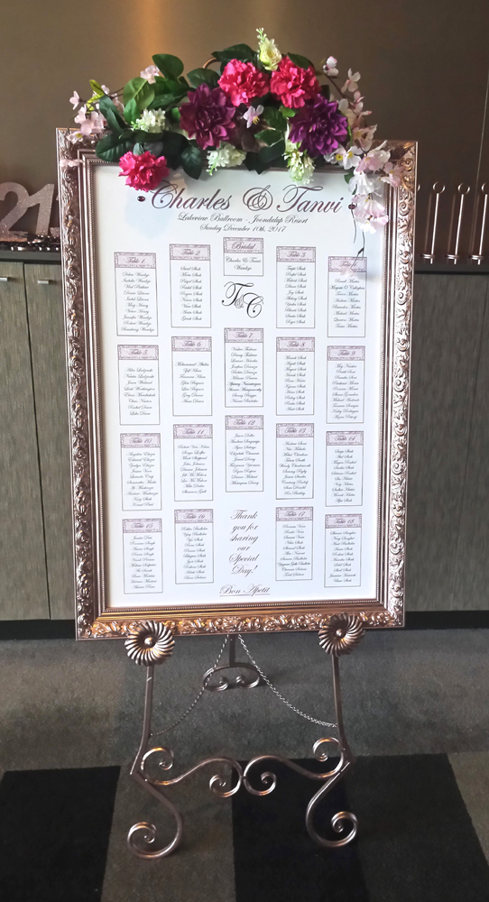 Rose Gold Custom Seating Plan