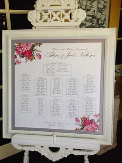 Pink Floral Custom Seating Plan