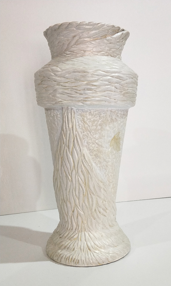 Textured Opalescent Clay Vase