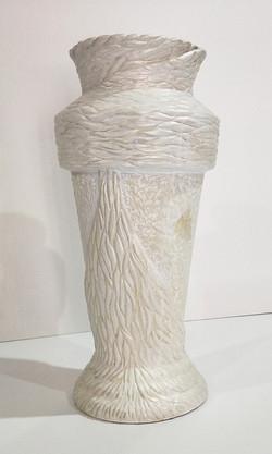 Textured Opalescent Clay Vase