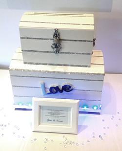Illuminated White Wedding Chest