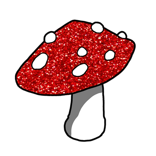 Glitter Mushroom Pin by Thanks Aanderton