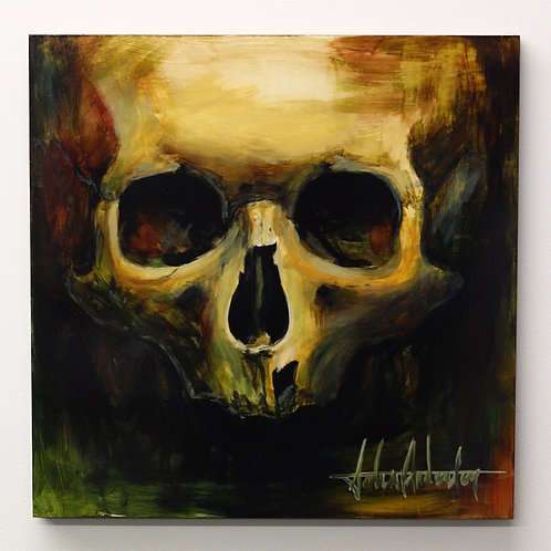 Skull Study in Oils