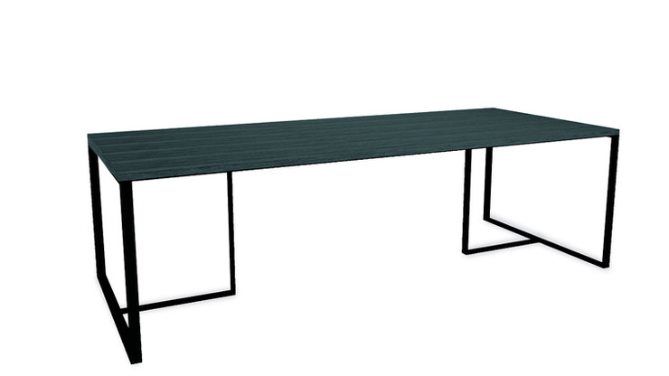 PENJAMO    Description :  Feet in laquered metal Top in oak veneer (other finishes/sizes on demand)   Size (LxWxH) :  160 x 100 x 75 cm 200 x 100 x 75 cm 240 x 100 x 75 cm