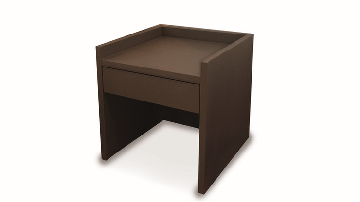 PIALITO  Description :  Structure in laquered MDF 1 drawer included (other finishes/sizes on demand)   Size (LxWxH) :  50 x 50 x 50 cm